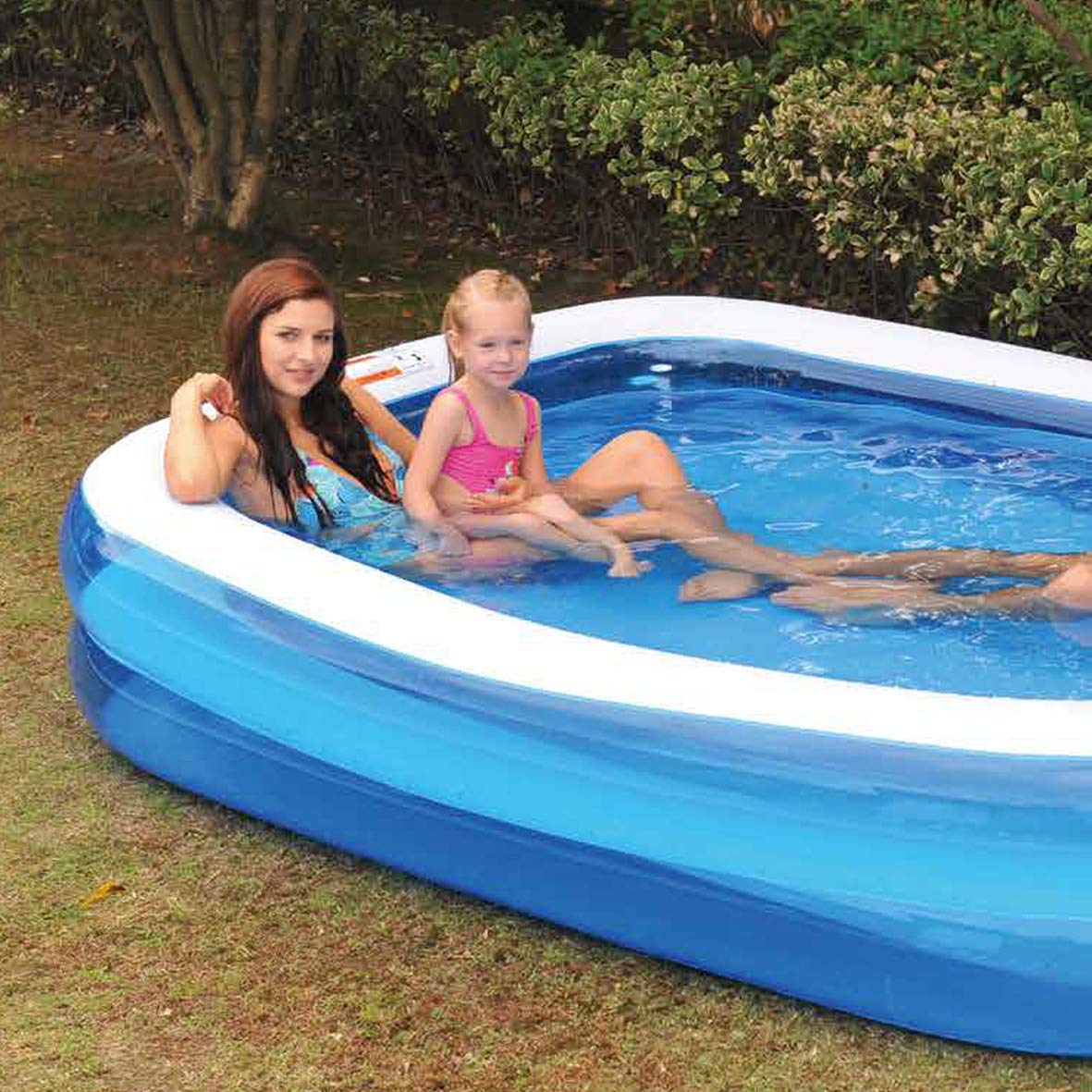 GardenKraft - Piscina Hinchable Rectangular (2m): Gardenkraft 2m Garden Inflatable Rectangular Swimming Pool (Medium): Amazon.es: Juguetes y juegos