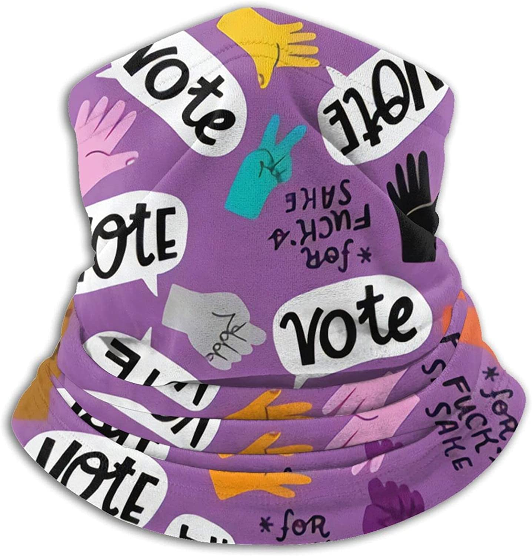 Vote FFS Purple Bandanas Neck Gaiter Face Mask Scarf Face Shield