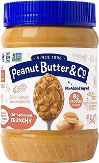 Peanut Butter & Co. Old Fashioned Crunchy Peanut Butter, Non-GMO, Gluten Free, Vegan, No Sugar Added, 16 Ounce Jar