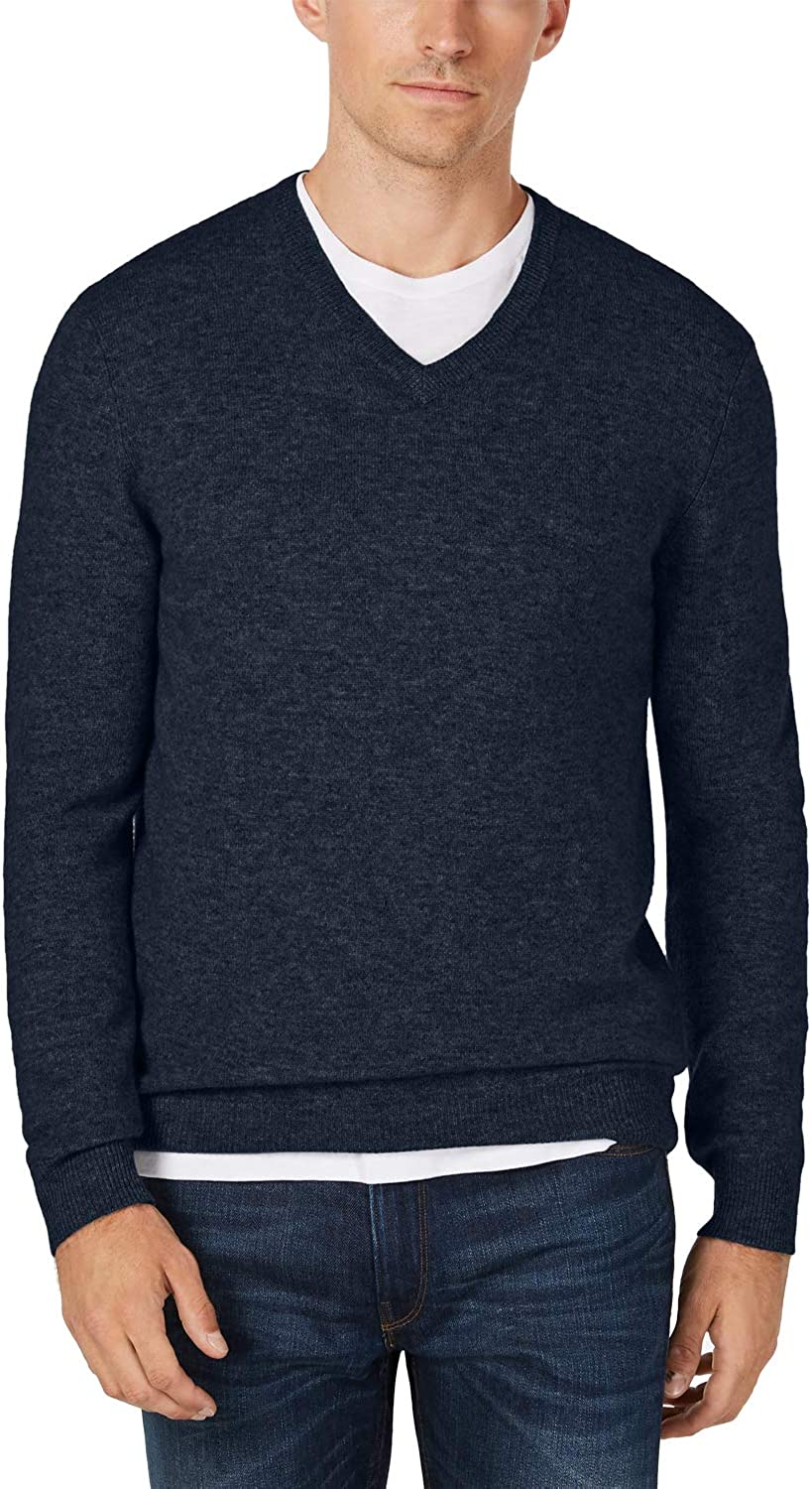 Club Room Mens Super sale period limited Cashmere Sweater V-Neck Ribbed Trim We OFFer at cheap prices