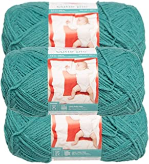 Red Heart (3 Pack Cutie Pie Yarn Skeins #3 Light Baby Soft for Sweaters Blankets Plush Lightweight