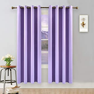 YGO Lilac Blackout Curtains for Girls Room Darkening Thermal Insulated Living Room Curtain Panels for Bedroom Window Treatment Set Grommet Top 1 Pair W 52 x L 84 inches