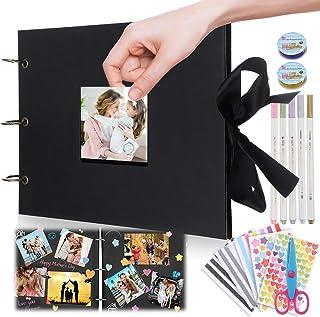 Jeteven Album Photo Scrapbooking 80 Pages A4 Fait à la Main DIY Album Craft Paper, 31,5 cm L x 21 cm Scrapbook Reliure à A...