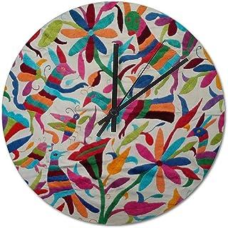 HAYOE オアハカ州メキシコメキシコマヤ ヒスパニック 民族 Boho 時計 デザイナー 壁掛け 掛時計 インテリア インテリア雑貨 掛け時計 リビング ダイニング デザイン時計 34cm