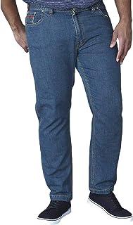 Duke D555 Mens Bailey Big Tall King Size Stretch Elasticated Waist Jeans - 44R Blue