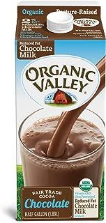 Organic Valley, Organic 2% Reduced Fat Chocolate Milk, Ultra Pasteurized, Half Gallon, 64 oz