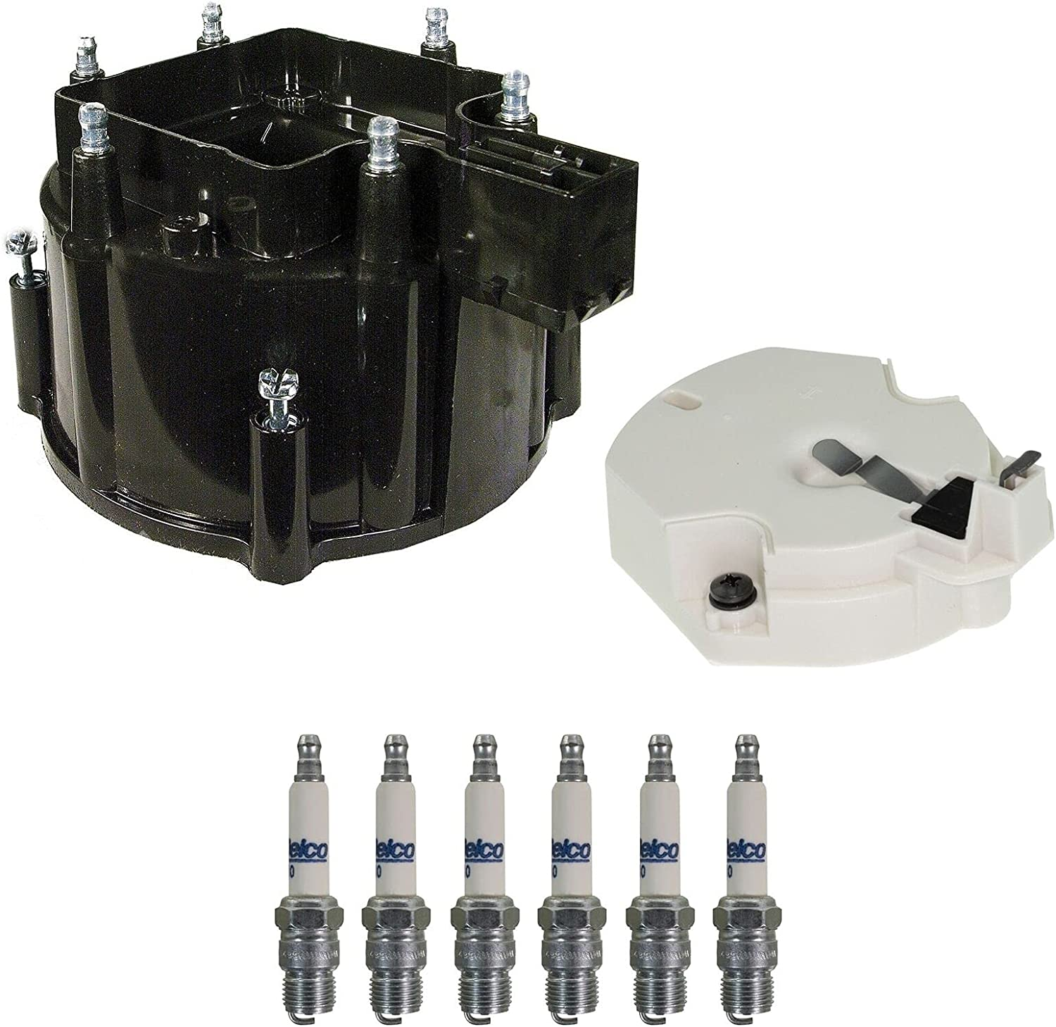 Distributor Rotor Cap Spark Plugs Popular brand Compatible with G1 Brand new Chevy Kit