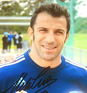 アレッサンドロ・デル・ピエロ直筆サイン入り写真…顔アップ…サッカーイタリア代表…