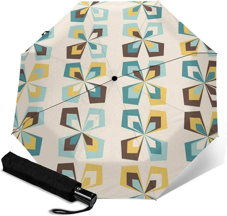 Geometric Floral Special sale item Pattern Print Umbrella Automatic Three-Folding Max 78% OFF