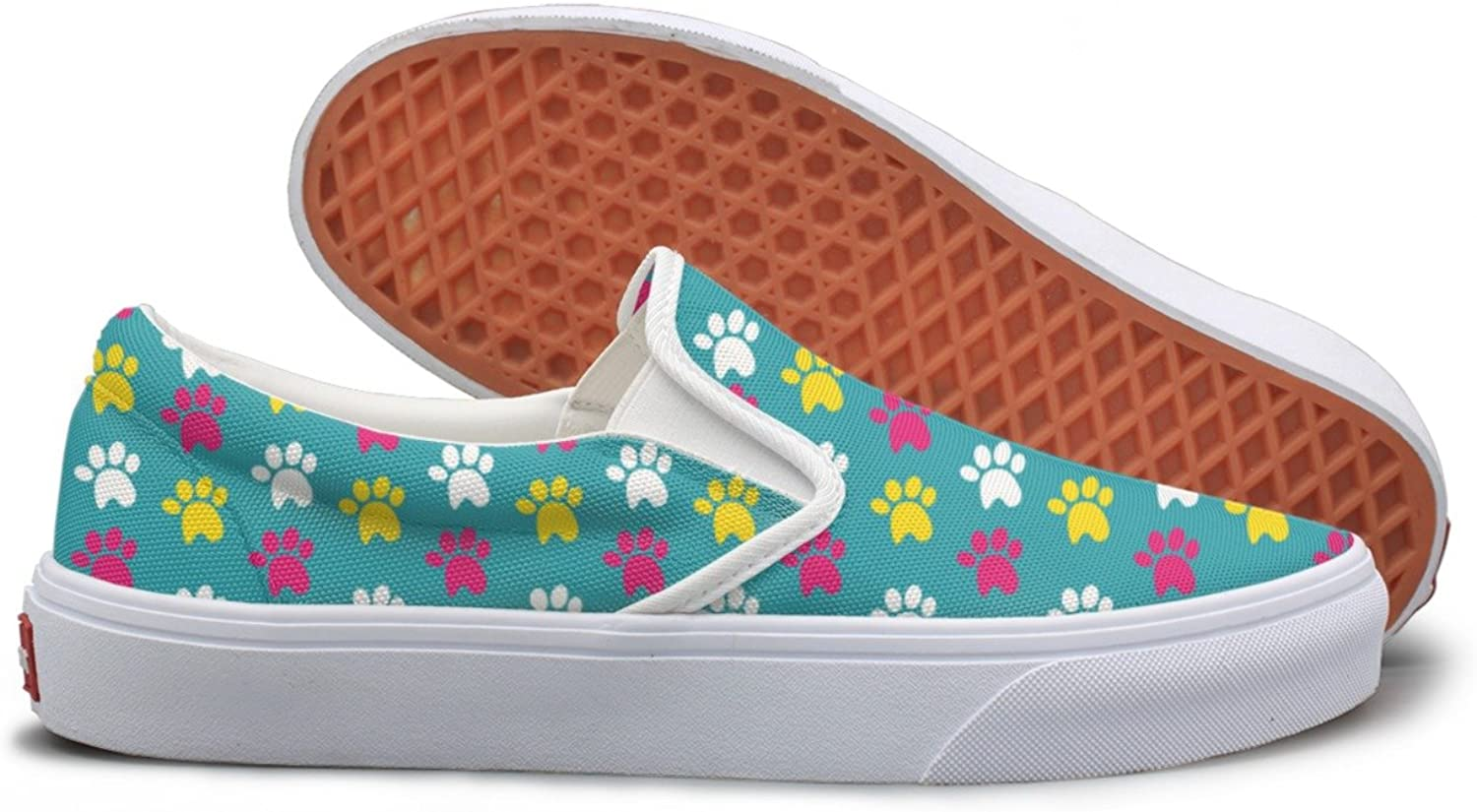 Casual Funny Cute Dogs Paw Women's Canvas shoes