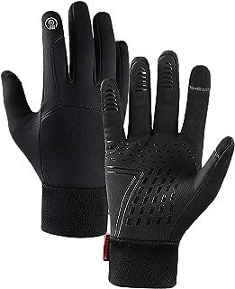 F Fityle Thermal Waterproof Cycling Gloves Full-Finger Winter Sport Touchscreen Gloves Women Men Anti-Slip Skiing Warm Glo...