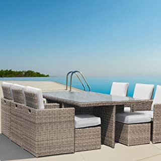 andresa von luxurygarden Rattan Garten Möbel Tisch Wintergarten Set