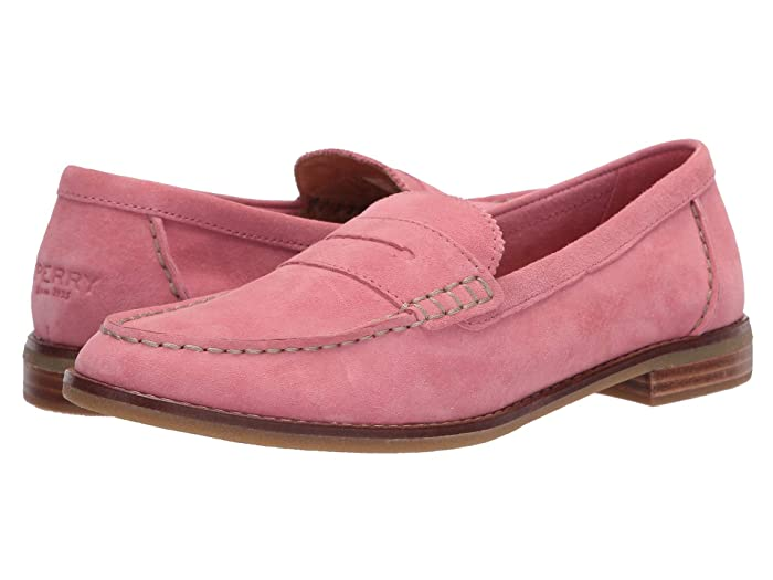 Sperry  Seaport Penny Shag Nubuck (Coral) Womens Slip on  Shoes