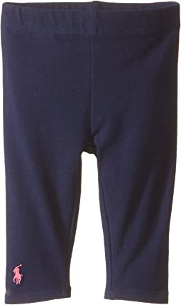 Ralph Lauren Baby Big PP Solid Leggings (Infant)