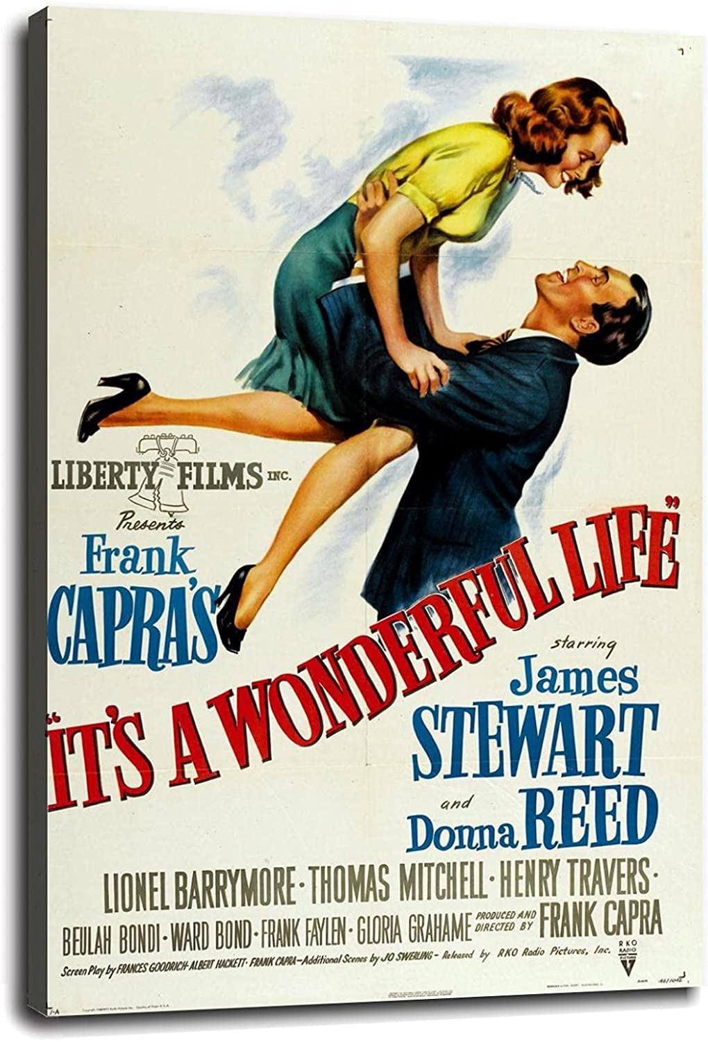 It's A Wonderful Poster Life Canvas New product!! Popular popular Movie Wall Prints Art