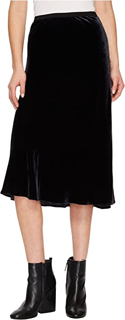 Velvet Elastic Waist Slip Skirt
