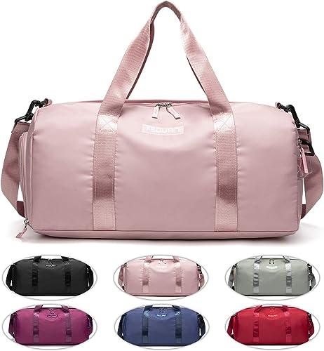 FEDUAN Sac de Sport Voyage magasinage à la Mode imperméable à l'eau avec Compartiment à Chaussures Poche pour Femmes ...