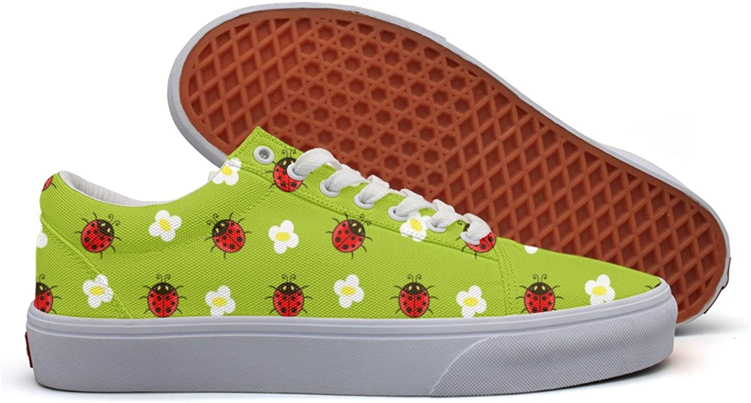 Ladybug Girl Women's Casual Sneakers Canvas Slip New Trainers