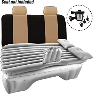 Car Inflatable Mattress Travel Back Seat Air Bed Cushion with Auto Pump and Two Pillows, Portable Camping Vacation Rest Sleeping Pad Fits Universal SUV Truck Minivan Separable Extended Couch