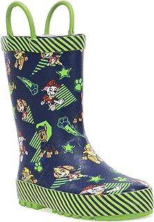 Western Chief Kids' Paw Patrol Waterproof Printed Rain Boot with Easy Pull on Handles