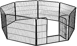 8-Panel Pet Playpen Dog Cat Enclosure with Fabric Cover 120x80CM/ Panel - XXL