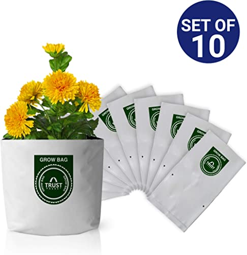 Trust Basket Poly Grow Bags UV Stabilized -10 Qty. [20cms(L)X20cms(W)X35cms(H)]