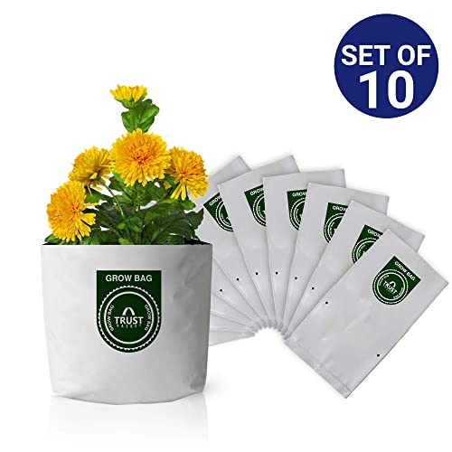 Trust Basket Poly Grow Bags UV Stabilized -10 Qty [20cms(L)X20cms(W)X35cms(H)]