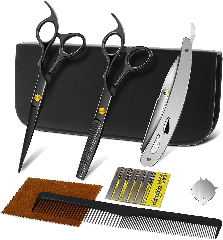 NWOUIIAY Store Hair Cutting Bargain sale Scissors Shears Raz Straight with Edge Kit