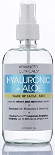 Hyaluronic + Aloe Skin Refreshing, Hydrating Face Mist Spray Lightweight, Non-Greasy Facial Toner with Premium Hyaluronic ...