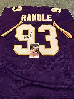 John Randle Autographed Signed Minnesota Vikings Signed Jersey JSA COA