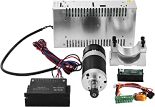 Mophorn CNC Spindle Motor 0.4kw DC Brushless Spindle Motor with 57mm Clamps and Switching Power Supply and MACH3 Speed Controller