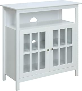 Convenience Concepts Big Sur Highboy TV Stand, White