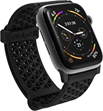 Compatible with Apple Watch Band 42mm 44mm, Hypoallergenic, Breathable Wristband, Soft Silicone Replacement Bands, Sport Band for iWatch Series 1,2,3,4,5 by Catalyst - Stealth Black