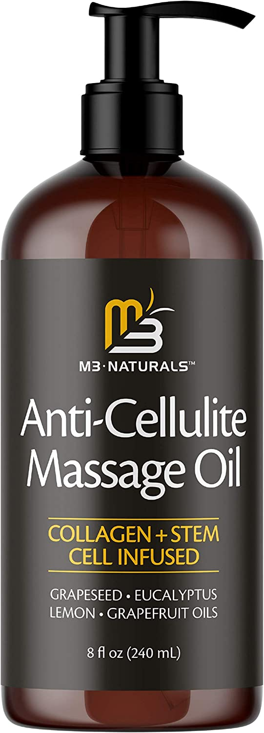 M3 Naturals Anti Cellulite Massage Oil Max 54% OFF Collagen Infused Direct store with and