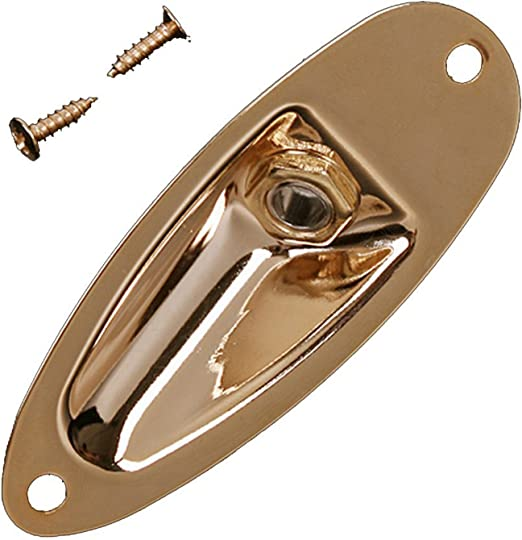 SAPHUE Guitar Input Jack Socket Plate Output Loaded Boat Style 1//4 Inch with Screws for Fender Stratocaster Strat St Mono Electric Guitar for Electric Guitar Replacement Parts