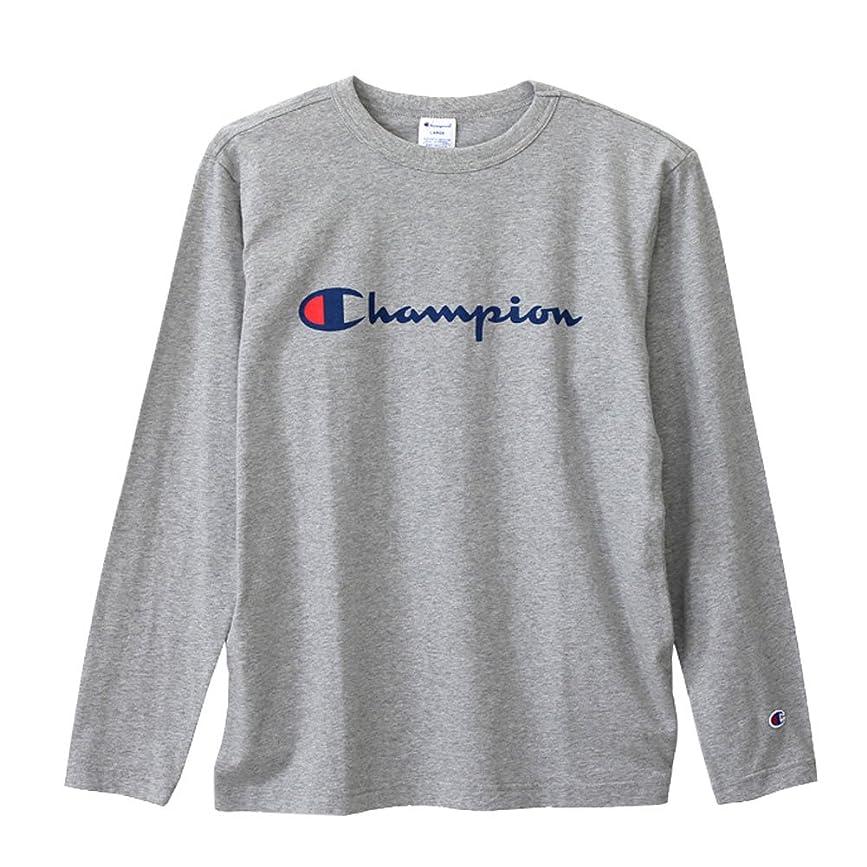 嫉妬踏み台酸っぱい(チャンピオン) Champion ロングスリーブTシャツ ベーシック ロンT C3-J426 Grey グレー