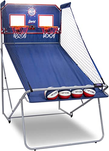 Pop-A-Shot Official Dual Shot Sport Basketball Arcade Game – 10 Games – 6 Audio Options – Durable Construction – Easy...