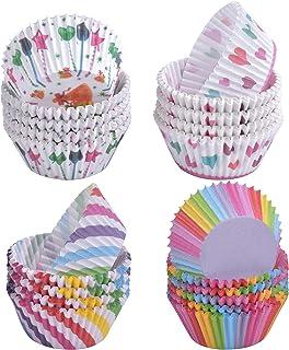 AvoDovA 400PCS Caissettes à Cupcakes Papier, Caissettes Muffins, Moules à Muffin Cupcake Moules, Muffin Tasses, Cupcake Wr...