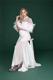女性のマタニティフォトマキシ写真用のドレスエレガントな妊娠中の長いマキシオフショルダードレスのカクテルドレスホワイト