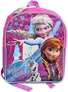 "Disney Frozen Backpack for Girls Kids ~ Deluxe 15"" Frozen Backpack Featuring Elsa, Anna, and Olaf (Frozen School Supplies)"