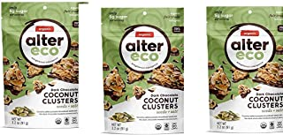 3 pack Alter Eco Dark Chocolate Coconut Clusters Seeds Salt 3 2 oz