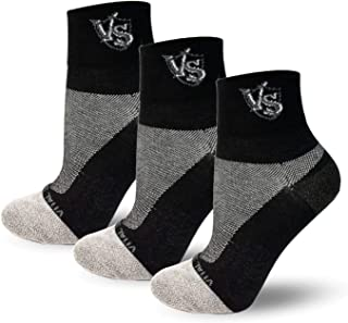 Vital Salveo -Sports Thin Athletic Crew Socks (3 Pairs)