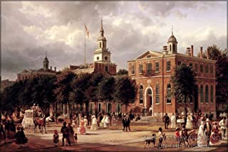 20x30 Poster; Independence Hall In Philadelphia By Ferdinand Richardt, 1858-63