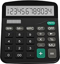 Helect Calculator, Standard Function Desktop Calculator, Black