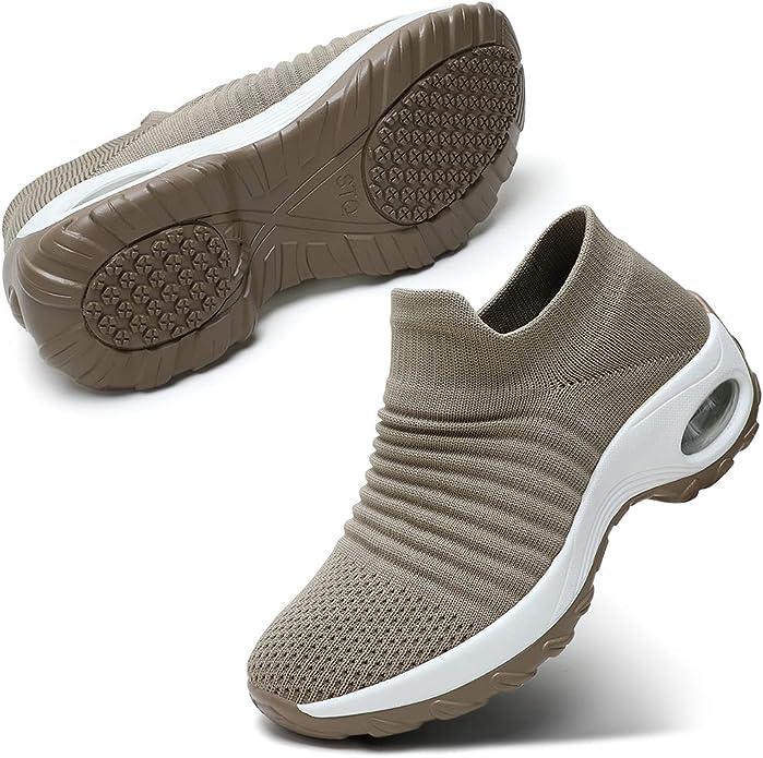 最近流行袜子运动鞋,贴脚舒适还能增高