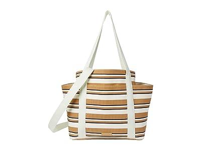 Vera Bradley Deluxe Canvas Tote (Natural Beach Stripe) Handbags