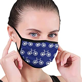 Anti-Dust Adjustable Elastic Band Face Mask for Boys Girls Adults, White Bike Bicycle Blue Reusable Mouth-Muffle for Pollen Smog, Medical, Running - Healthy