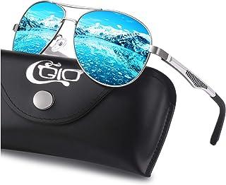 CGID GA61 Premium Al-Mg Alloy Pilot Polarized Sunglasses UV400,Spring Hinges