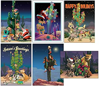 Western Christmas Cards Variety Pack - 24 Cards & Envelopes