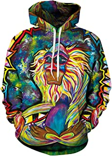 Zegoo Azuki Unisex Fashion 3D Digital Printed Pullover Hoodies